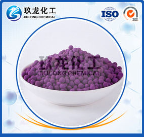 China Schwefelwasserstoff-Absorber-Tonerde-Katalysator-Stützkaliumpermanganats-Ball KMnO4 4% - 8% usine